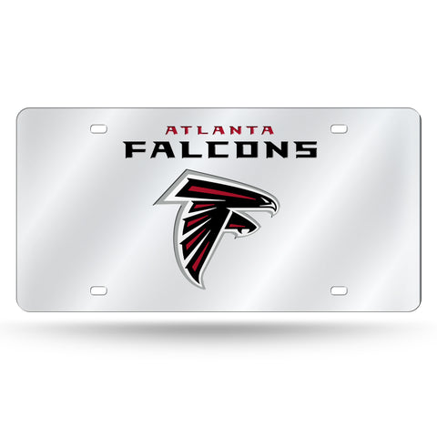 ATLANTA FALCONS (LOGO/WORDMARK) SILVER LASER TAG