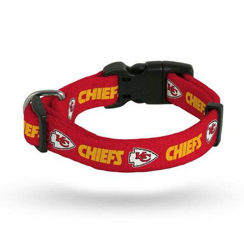 CHIEFS PET COLLAR - LARGE