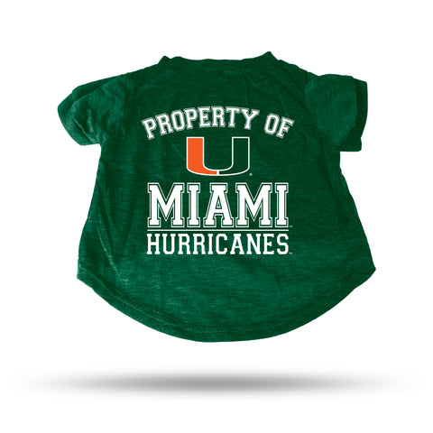 MIAMI  GREEN PET T-SHIRT - SMALL