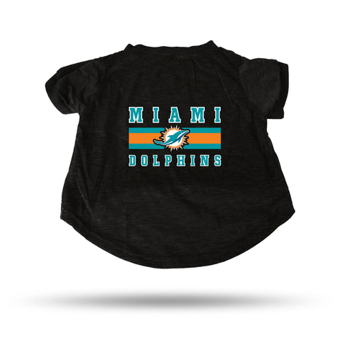 DOLPHINS BLACK PET T-SHIRT - SMALL a