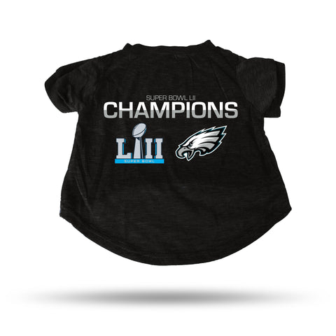 EAGLES 2018 SUPER BOWL LII CHAMPIONS PET T-SHIRT - SMALL