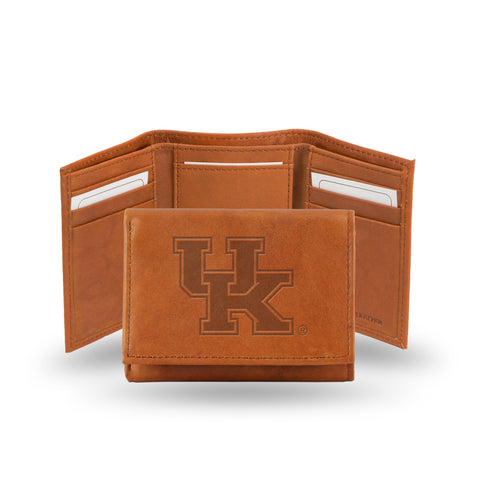 KENTUCKY EMBOSSED LTHR TRIFOLD