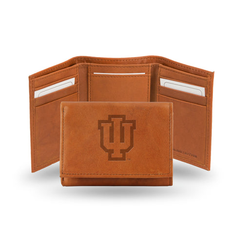 INDIANA EMBOSSED LEATHER TRIFOLD