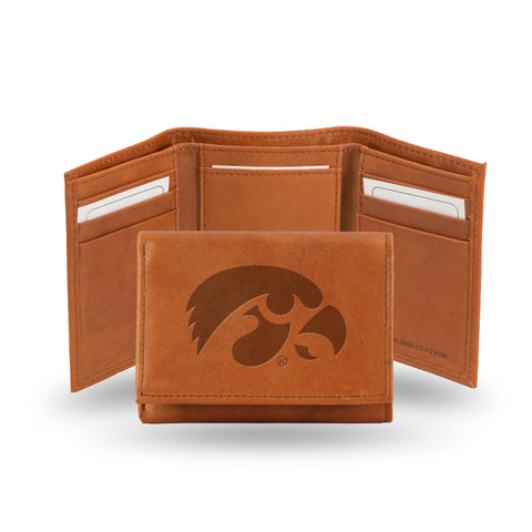 IOWA EMBOSSED LEATHER TRIFOLD