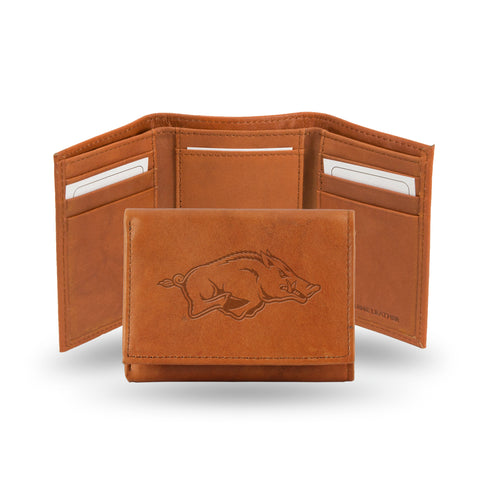 ARKANSAS EMBOSSED LEATHER TRIFOLD