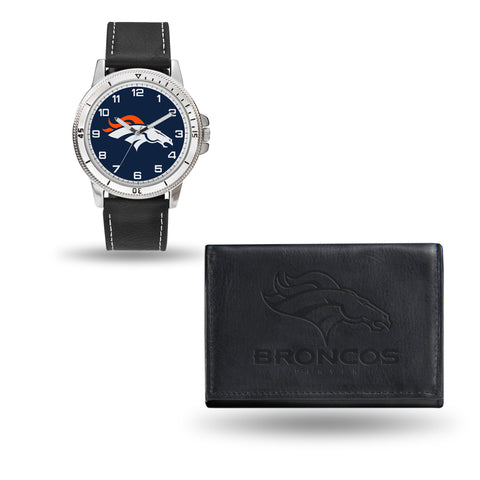 BRONCOS BLACK WATCH AND WALLET