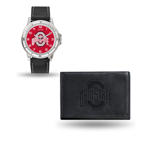 OHIO STATE BLACK WATCH AND WALLET