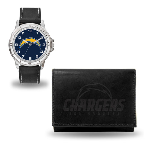 LOS ANGELES CHARGERS BLACK WATCH AND WALLET