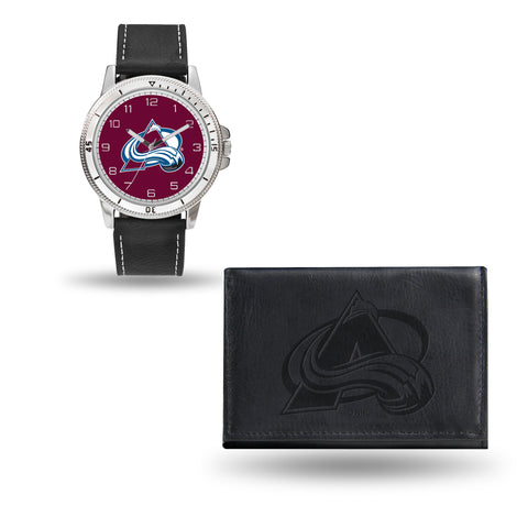 AVALANCHE BLACK WATCH AND WALLET