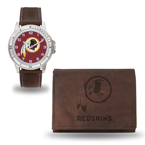 REDSKINS BROWN WATCH AND WALLET