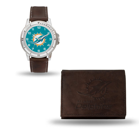 DOLPHINS BROWN WATCH AND WALLET Version 1