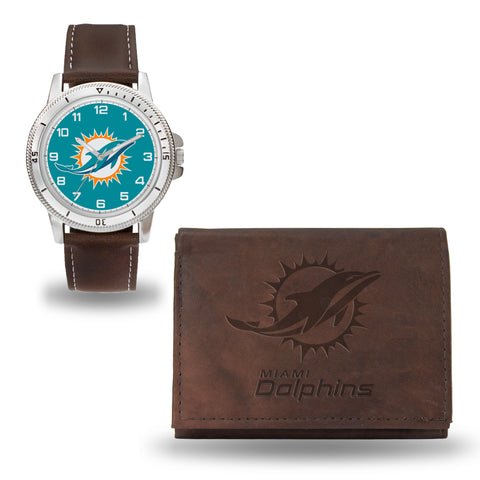 DOLPHINS BROWN WATCH AND WALLET Version 2
