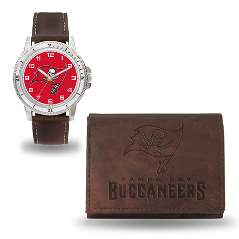 BUCCANEERS BROWN WATCH AND WALLET