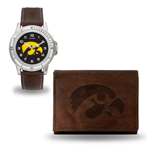 IOWA BROWN WATCH AND WALLET