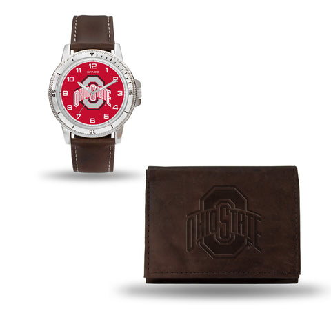 OHIO STATE BROWN WATCH AND WALLET