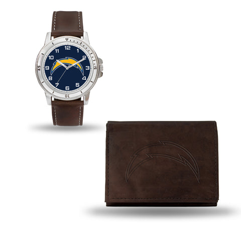CHARGERS BROWN WATCH AND WALLET