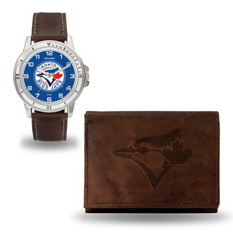 TORONTO BLUE JAYS  BROWN WATCH AND WALLET