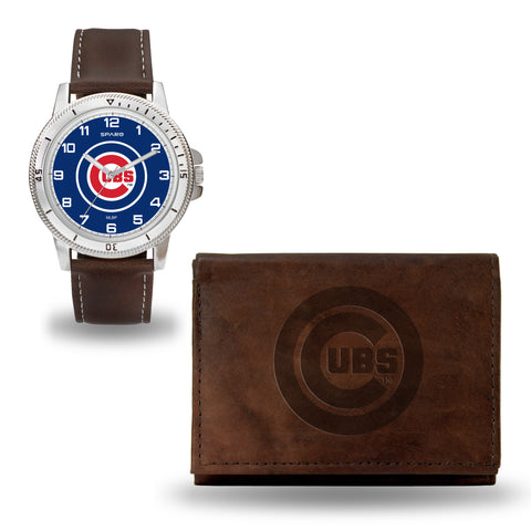 CHICAGO CUBS  BROWN WATCH AND WALLET