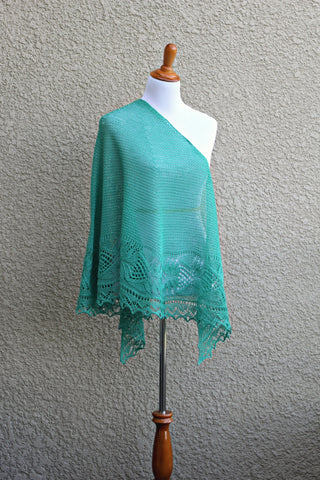 Knit mint shawl