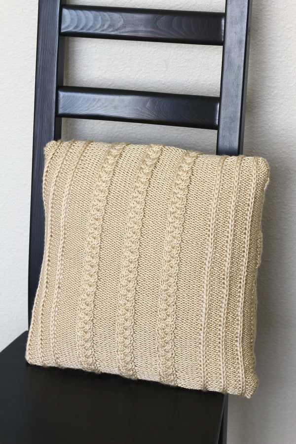 Knit pillow case pattern, knitting pattern, home decor, DIY knitted tutorial - Wilson Pillow