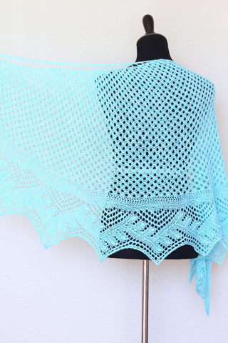 Emery shawl - Knitted shawl pattern, knitting tutorial, PDF - English version 🇺🇸