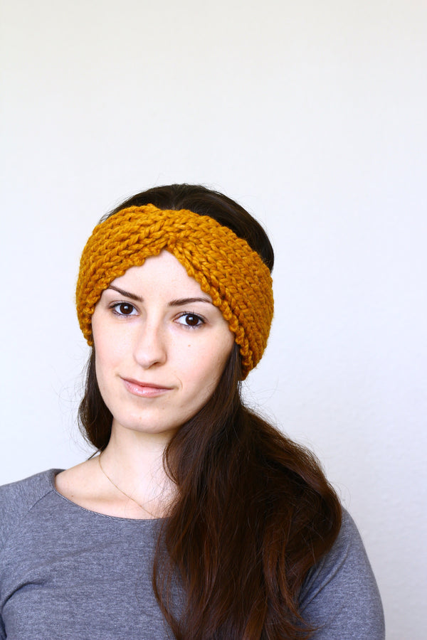 Knit headband ear warmer, running headband for women