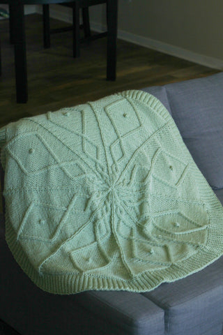 Knit baby blanket knitting pattern