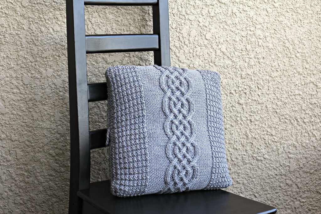 Knitted pillow case pattern, DIY knitting tutorial, knitting pattern ...