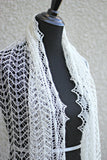 Knit wedding stole