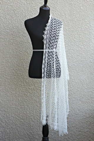 Knit wedding shawl