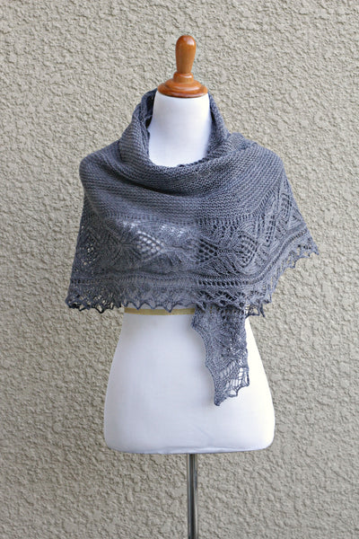 Knit grey wrap