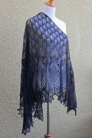 Knit shawl for women