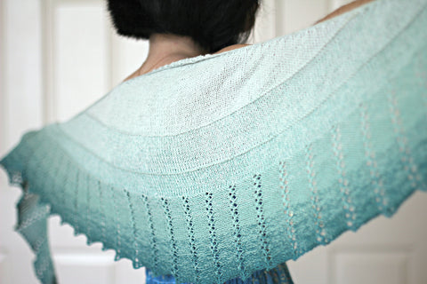 Spearmint Tea shawl pattern