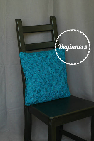 Knit pillow case, knitting pattern - Morrow pillow