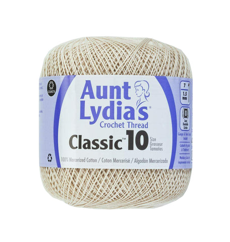 Aunt Lydia's Crochet Thread Classic Size 10, 350 yards per spool