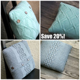 Knitting patterns - 2 knit pillowcase patterns bundle