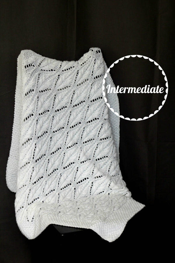 Baby blanket knitting pattern - Vinton Blanket
