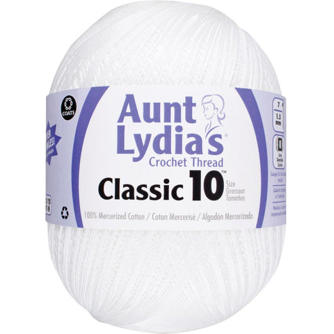 Aunt Lydia's Crochet Thread Classic Size 10, Jumbo size - 2730 yds