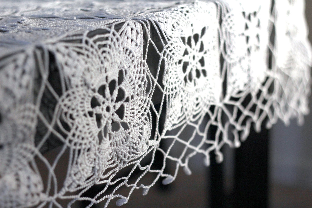 35 Crochet Lace Tablecloth Patterns The Funky Stitch