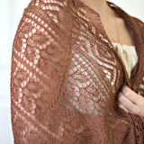 Delicate knit stole