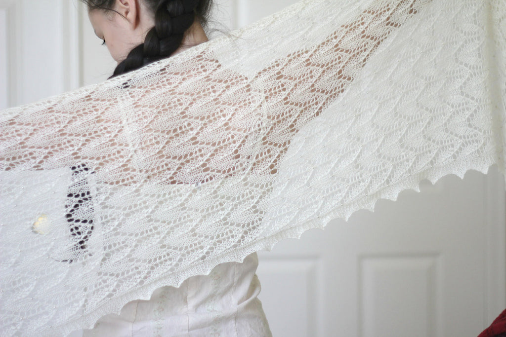 Knitting Pattern Chevron Lace Stole In Pdf Kgthreads
