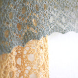 Knit shawl, lace shawl in gradient beige and grey colors, cotton wrap, gift for her