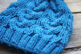 Cabled hat for women