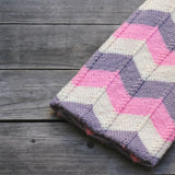 Knit chevron blanket