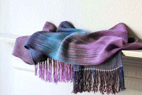 Turquoise violet scarf