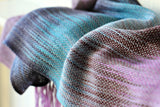 Violet and turquoise scarf