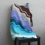 Crochet stripes baby blanket