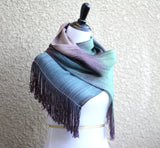 Blue-green and brown scarf