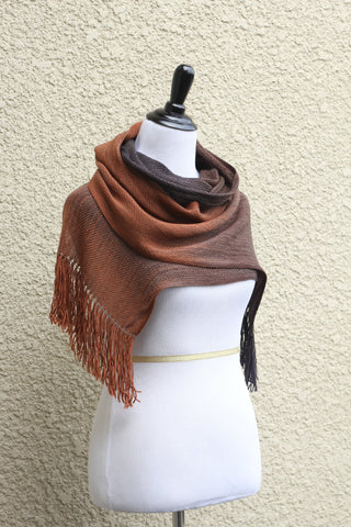 Brown chocolate woven wrap