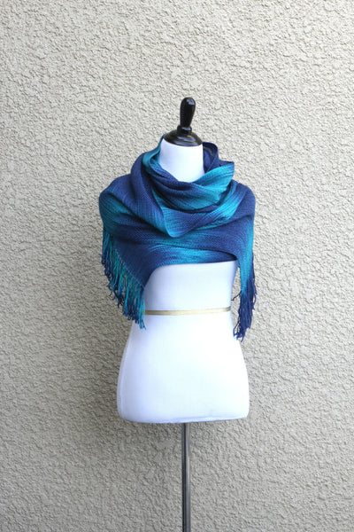 Navy blue marble scarf